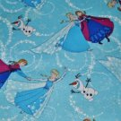 Disney Frozen Sisters Ice Skating Pediatric Nurses Ladies Scrubs Caps Banded Bouffant Hats Caps