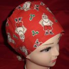 Handcrafted  Ladies Nurses Quality scrub caps at the lowest prices Santa's Skivvies