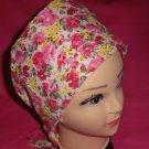 Nurses Scrubs Hats Scrub Caps Pixie Cap Bohemian Cancer Recovery Hats Caps Pink Flowers