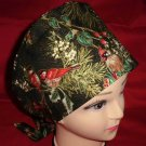 Pediatric Nurses Christmas Surgical Scrubs Scrub Caps Ladies Pixie Cap Songbirds