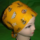 Made From Licensed GA Tech  Fabric Pediatric Nurses Scrubs Pixie Scrub Caps Surgical Hats