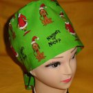 Dr.Seuss The Grinch And Dog Max Christmas Nurses Surgical Scrubs Scrub Caps Ladies Pixie Hat 2