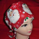 Pediatric Nurses Christmas Santa Clause Surgical Scrubs Scrub Caps Ladies Pixie Cap
