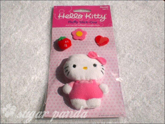 hello kitty fluffy sticker