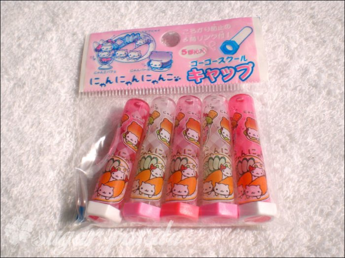 san-x nyan nyanko pencil caps