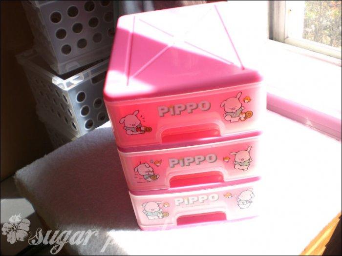 vintage sanrio pippo storage drawers