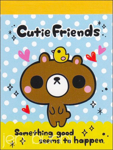 pool cool cutie friends mini memo pad
