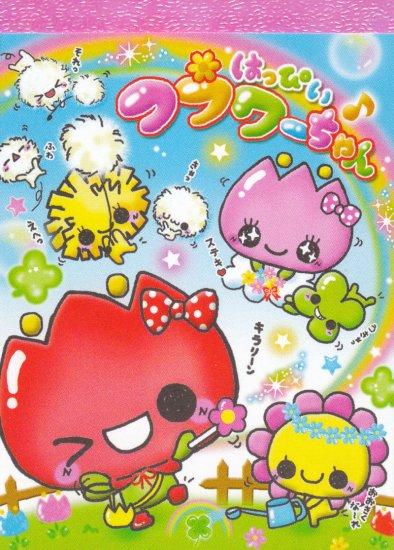 kamio happy flowers mini memo pad