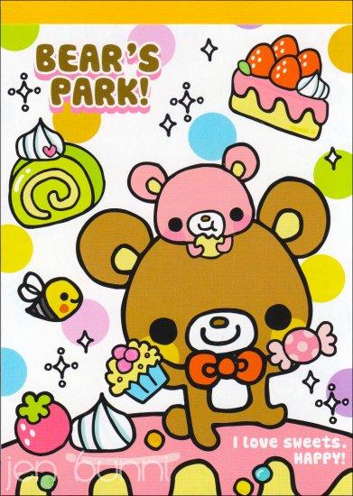 q-lia bears park memo pad