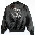 Vintage Black Satin Jacket Texas Push Club Western/Swing Men's Size Large (L)