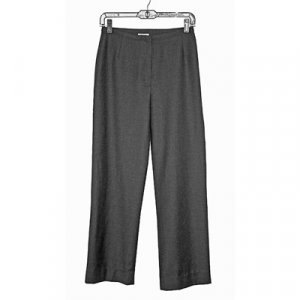 LAURA ASHLEY Gray Wool Wide Leg Pants/Trousers Size 6 US, 10 UK, 36 EU