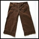 WET SEAL Brown Corduroy Soft Wide Leg Gaucho/Capri Pants Juniors Size 3 (XS)
