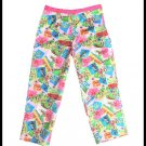 Bamboo Traders Pink Hawaii Novelty Print Capri Pants Size 10 (M) Medium