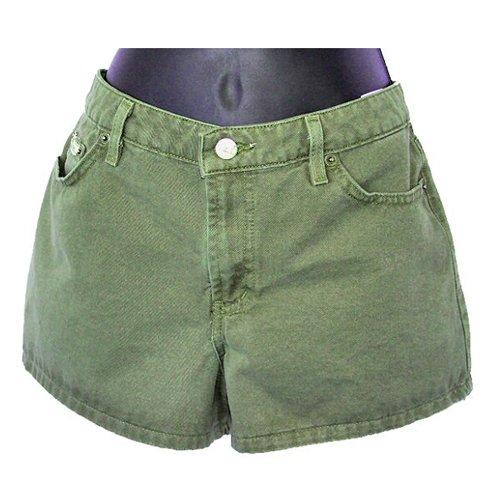 "l.e.i. Olive Green Twill Khaki Short Shorts 2"" Inseam Juniors Size 9 (M) Medium"