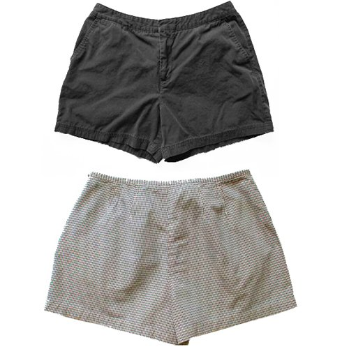 Dockers Women's Shorts Black and Black & White Check 14 (L) Large (2 pair)