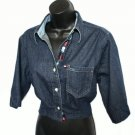 TOMMY HILFIGER JEANS Boxy Crop Denim Shirt Size Medium (M)