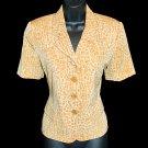 Kasper ASL Gold Croc Print Blazer/Jacket Petite Size 4 (4P) Small