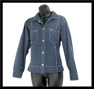 Fresh Produce Dark Blue Lightweight Cotton Jacket Size Medium (M)