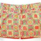 OLD NAVY STRETCH Pink Orange Teal Print Mini Skirt Size 8 (M) Medium
