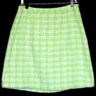 APT 9 Bright Lime Green Boucle Tweed Skirt Size 10 (M) Medium