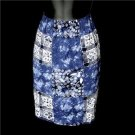 Carole Little Sport Petites Blue Batik Beach Skirt Size 8P 8 P