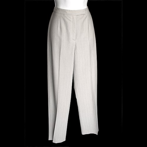 Ann Taylor Loft Light Gray Pinstripe Dress Pants Women's Size 2 (XS)