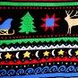 Primitive Print Christmas Holiday Long Wrap Skirt Size 8