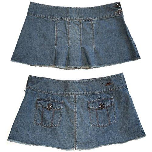 Hurley Dark Rinse Denim Pleated Schoolgirl Skirt Size 7 (S) Small