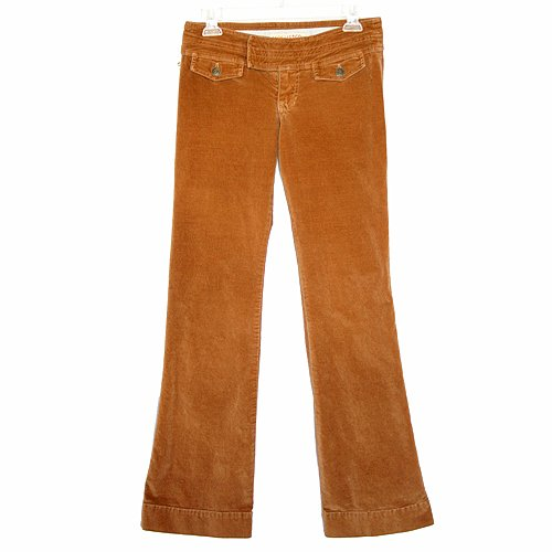 Hollister Golden Brown Low Rise Stretch Velvety Soft Brushed Cotton Pants Junior's Size 1 (XS)
