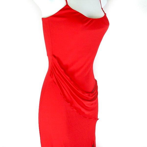 Yigal Azrouel Strappy Red Drape Cocktail Dress Women's Size 0 (XS)