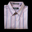 Christian Dior Purple Short Sleeve Stripe Dress Shirt Men's Size Medium (M)