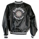 Shultzies Bar (Everman TX) Black Satin Jacket Dart League Men's Size Large (L)