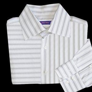 Kuhlman horizontal vertical stripe dress shirt men 39 s for Horizontal striped dress shirts men