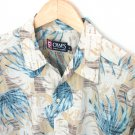 Chaps Ralph Lauren Silk Hawaiian Aloha Shirt Men's Size Medium (M)
