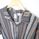 Burma Bibas Polynosic Retro Rockabilly Short Sleeve Striped Shirt Men's Size Large (L)
