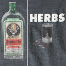 Vintage 90s Dark Gray Jagermeister Bottle Herbs T-Shirt TShirt Tee Men's Size Large (L)