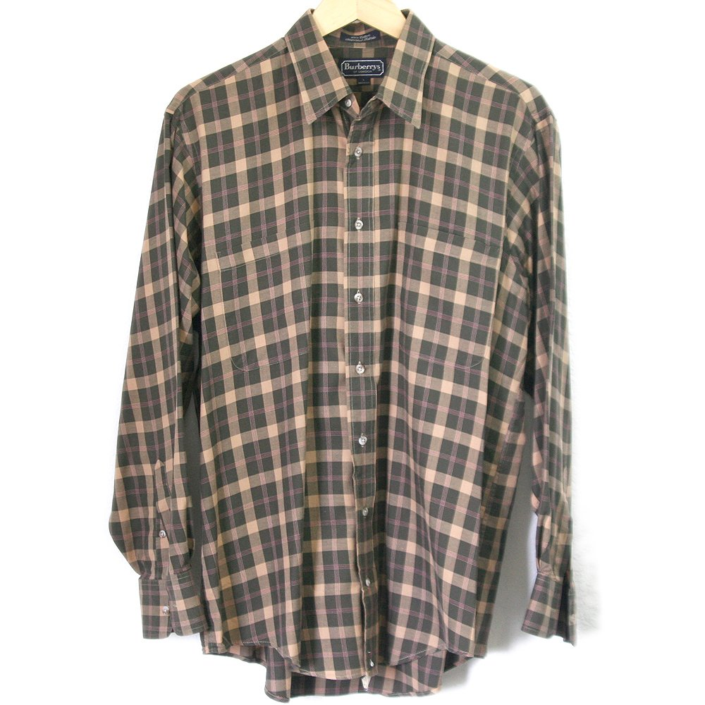Authentic Burberry London Vintage 80s 90s Brown Green
