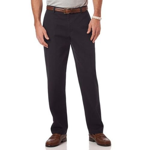 Chaps Black Mitchell Style Relaxed Fit Flat Front Pants Men's Size 36 x 32 New