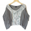 Anthropologie Deletta Gray Batwing Knit Top Shirt Boho Hippie Women's Size Medium (M) New