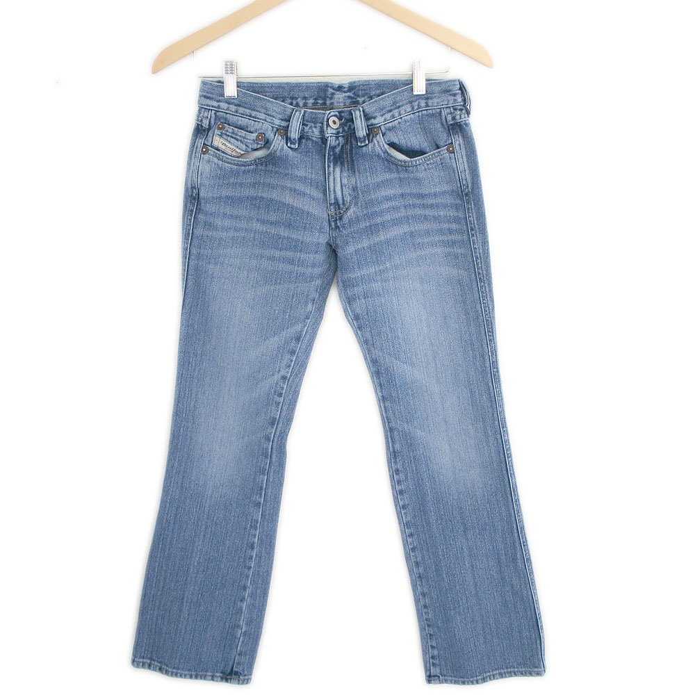 Womens Diesel Industry Jeans Straight Leg Whisker Wash Fade Italy Womens' Size 26 (28x30)
