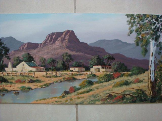 Original Oil Painting - South African Artist - Rawsonville
