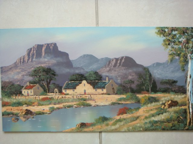 Original Oil Painting - South African Artist - Worcester