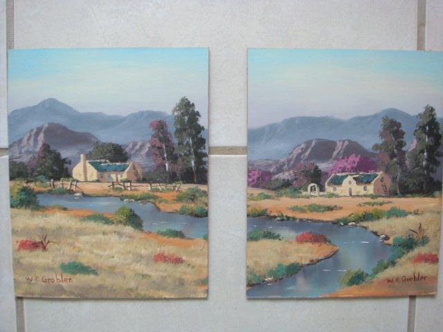 Original Oil Painting - South African Artist - Robertson(Set)