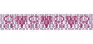 Ann's Breast Cancer Bracelet - peyote bead pattern
