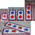 Patriotic Turtles Bracelet & Earring Set - Peyote Bead Pattern