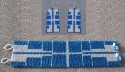 Mirrored Images Cuff and Earring Set - Peyote Bead Pattern