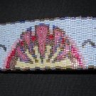 Peaceful Beach at Sunset Cuff - Peyote Bead Pattern