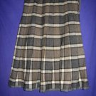 Vintage Wool Plaid Pleated Collegiate Skirt XS W24