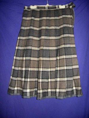 Vintage Wool Plaid Pleated Collegiate Skirt XS W24