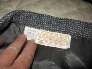 Vintage 60's Gray Wool Pendleton Slim Skirt Skinny